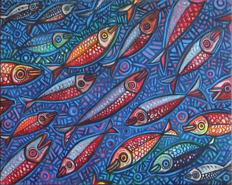 Double Rainbow Fish by Johnnyratboy