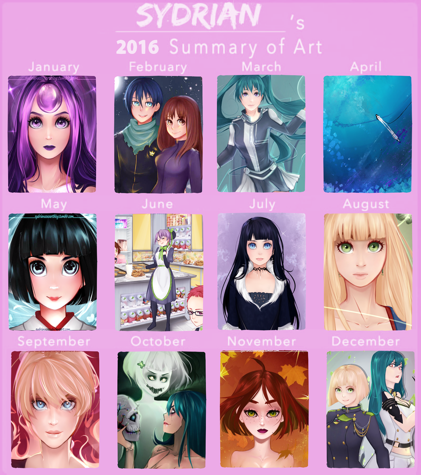 2016 Year in Review by Sydrianxoxo