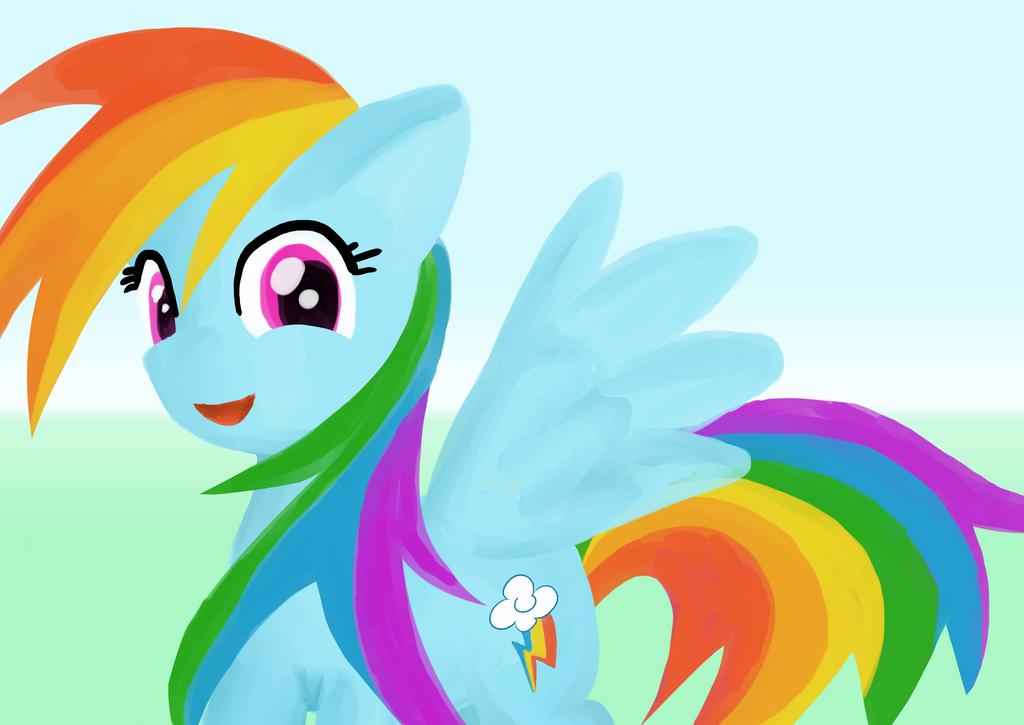 Rainbow Dash by nullkal