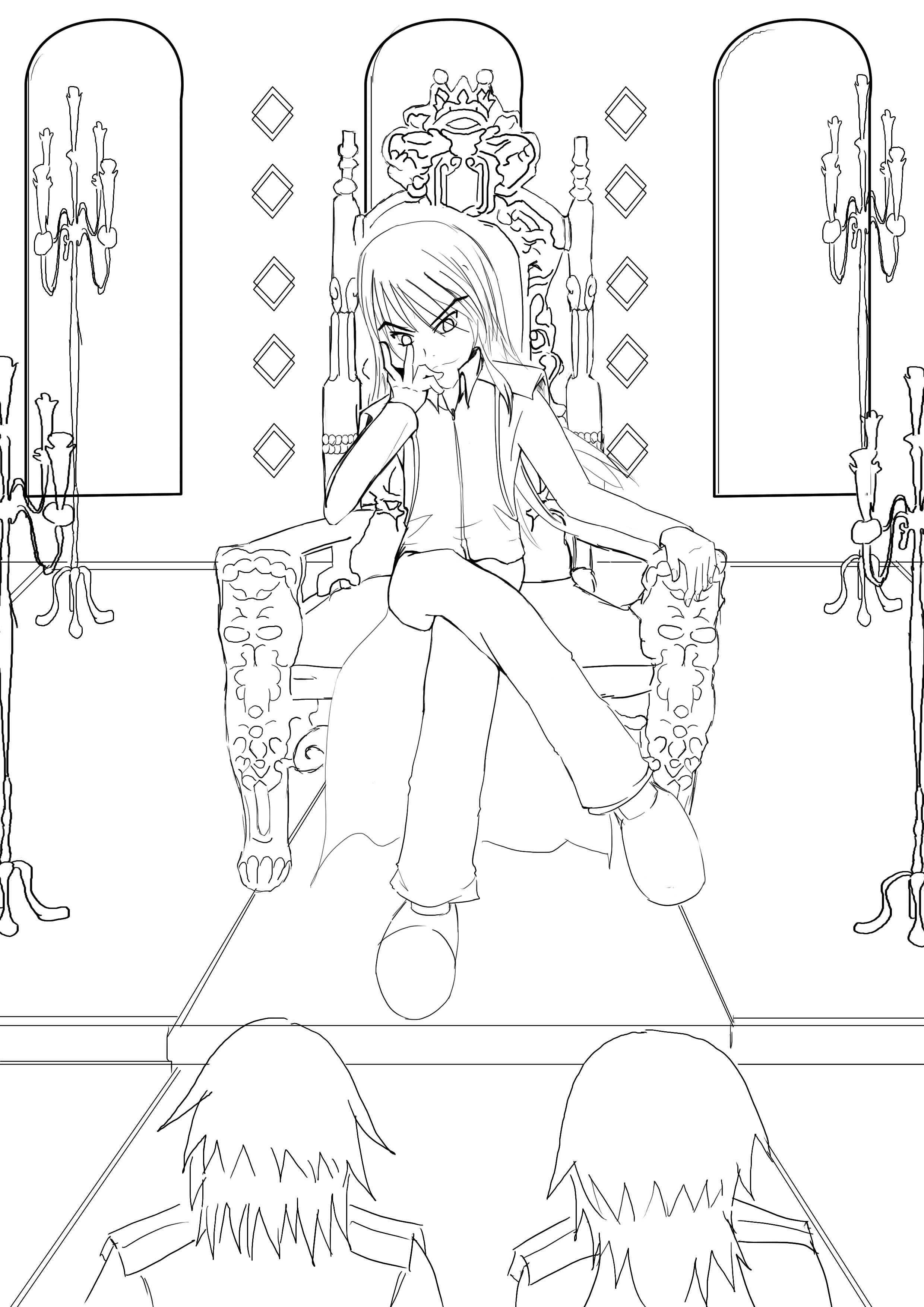 Kings Throne Drawing King Throne Shirououji