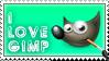 My GIMP Stamp - I LOVE GIMP by dahCarrot