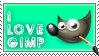 My GIMP Stamp - I LOVE GIMP by dahCarrot