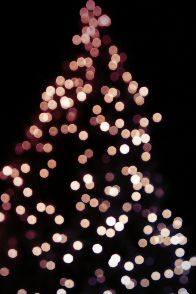 christmas tree bokeh iphone by atlevel1alt