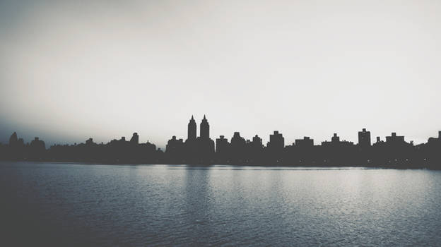 He was too romantic about Manhattan VSCO Blue Edit