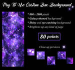 Purple Galaxy Pay To Use Custom Box Background by Oce3D-Rainbow