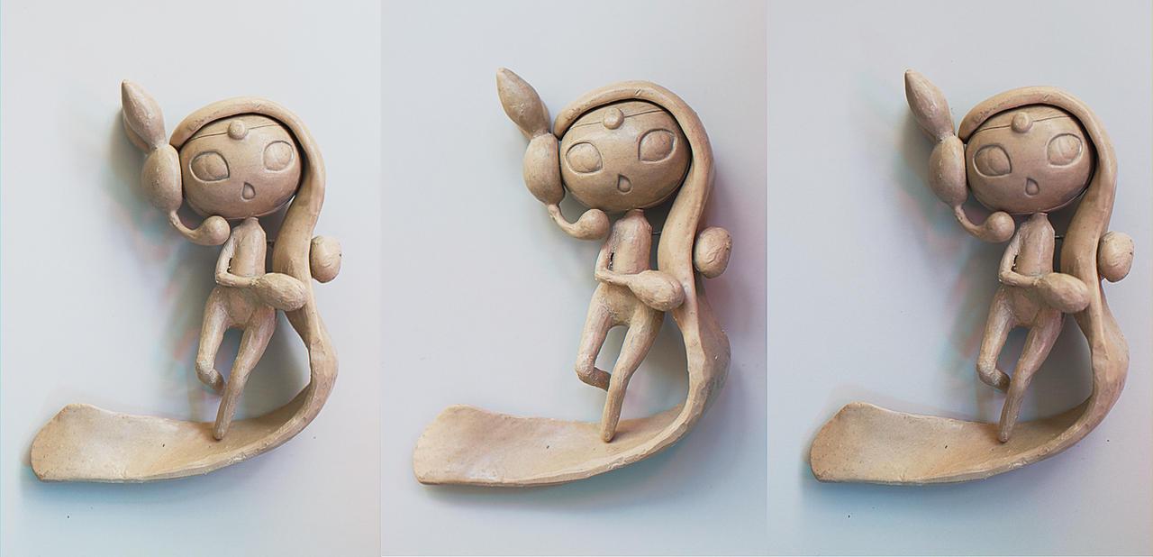 Meloetta Sculpture - Final WIP by Kayo7