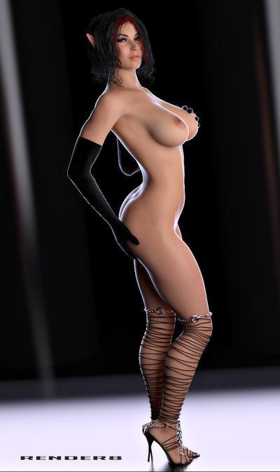 Sexy Cass Foxxx Elf Style by Render-8