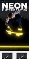 Neon Photoshop Action - Neon Effect Creator Action