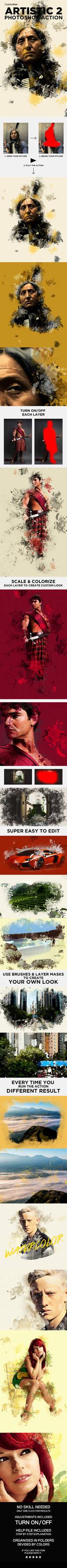 Artistic 2 Photoshop Action - Watercolor Effect