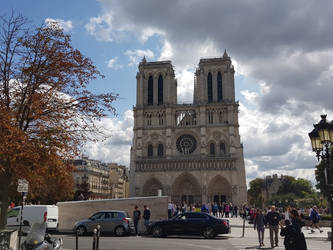 Notre Dame in Summer lights by Bezsoba