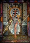 Goddes Ahsoka in Stain Glass by Bezsoba