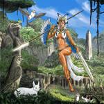 Goddess Ahsoka and Morai by Bezsoba