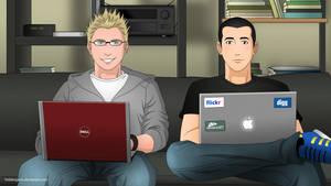 Kevin and Alex Get Manga-ed by Mangsney