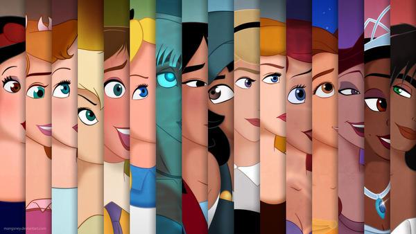 All the Disney Ladies by Mangsney