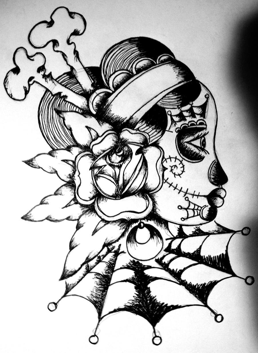 new years eve sugar skull by ramworship on deviantart