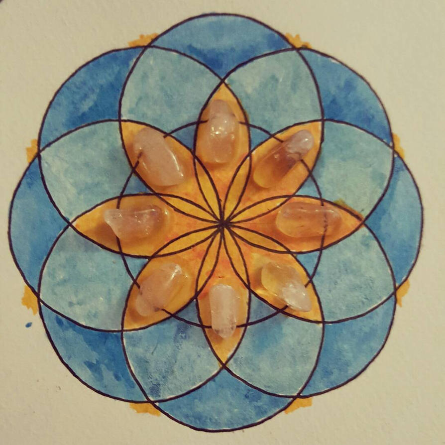 Blue Lotus Flower Of Life Crystal Grid By Ramworship On Deviantart