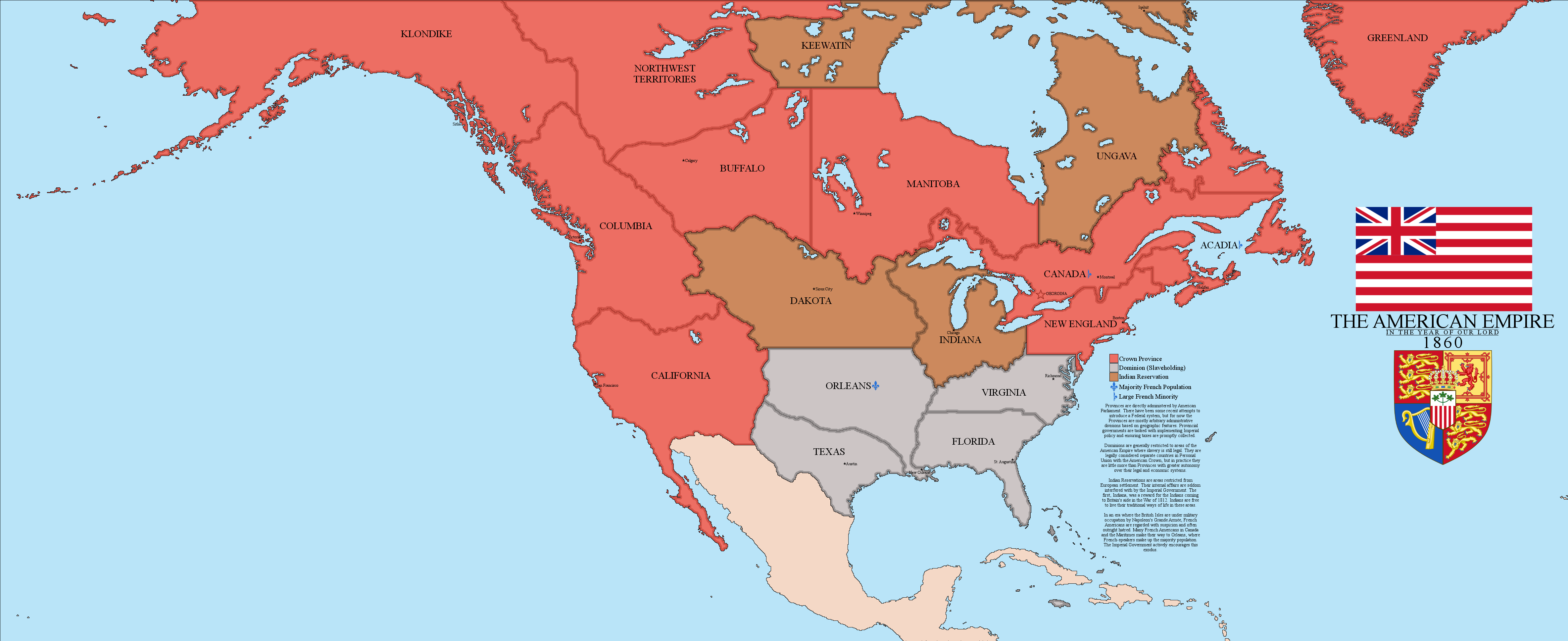 British American Empire By Xpnck On DeviantArt - The us empire map 2017