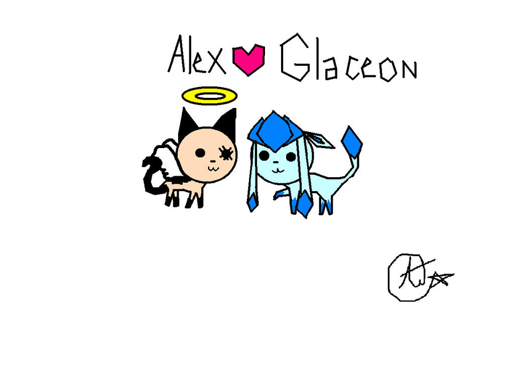 Alex & Glaceon by glaceon215