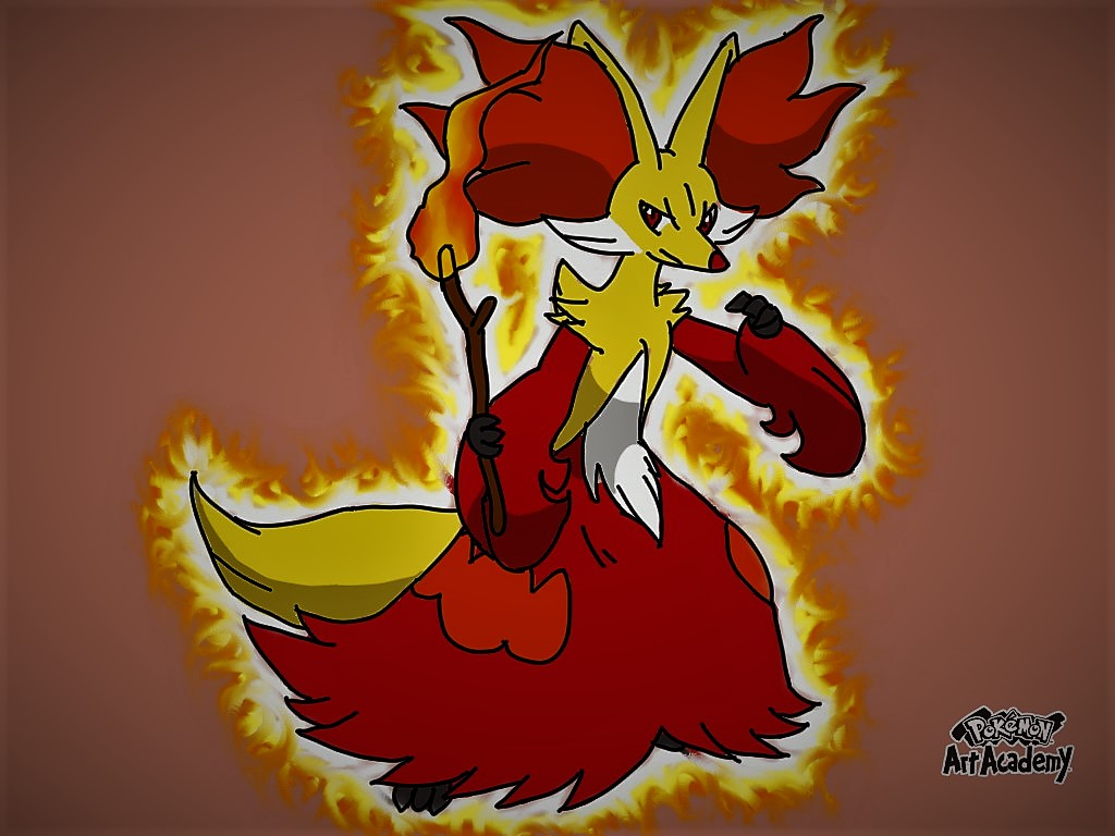 Delphox by glaceon215