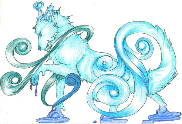 Elemental Wolves Water or Ice by Sylvirr on DeviantArt