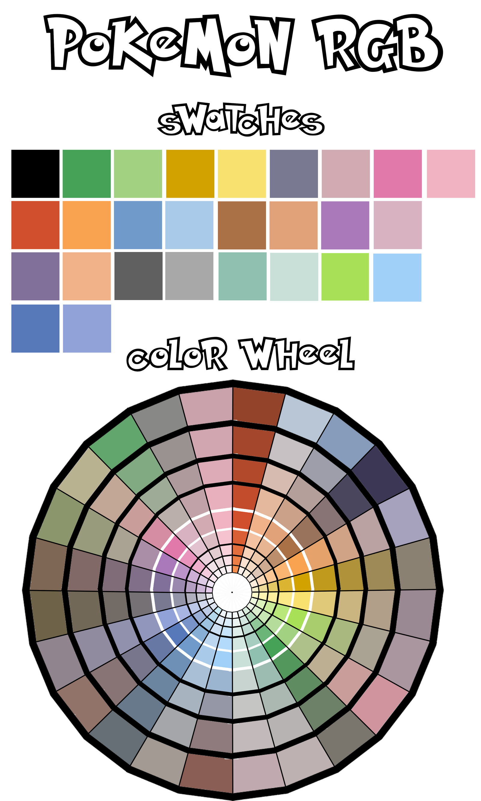 Gameboy color palettes -  Green Blue Custom Color Wheel By Mistressmissingno