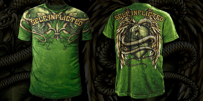 MMA T - Shirt Design : Snake by seventharmy