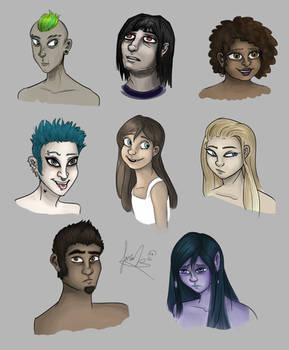 Characters sketch dump