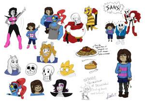 Undertale doodles/sketch dump
