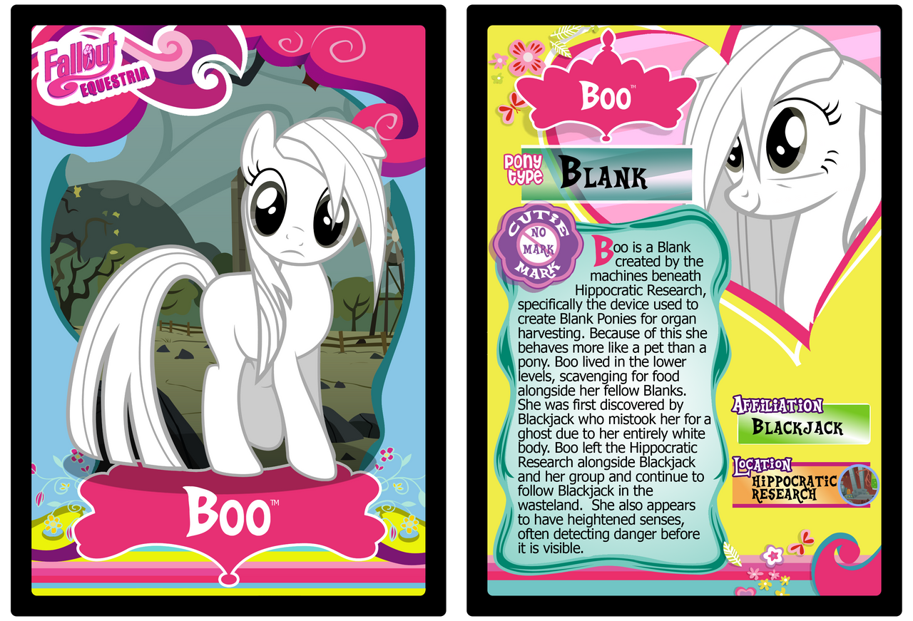 Boo Trading Card by RinMitzuki