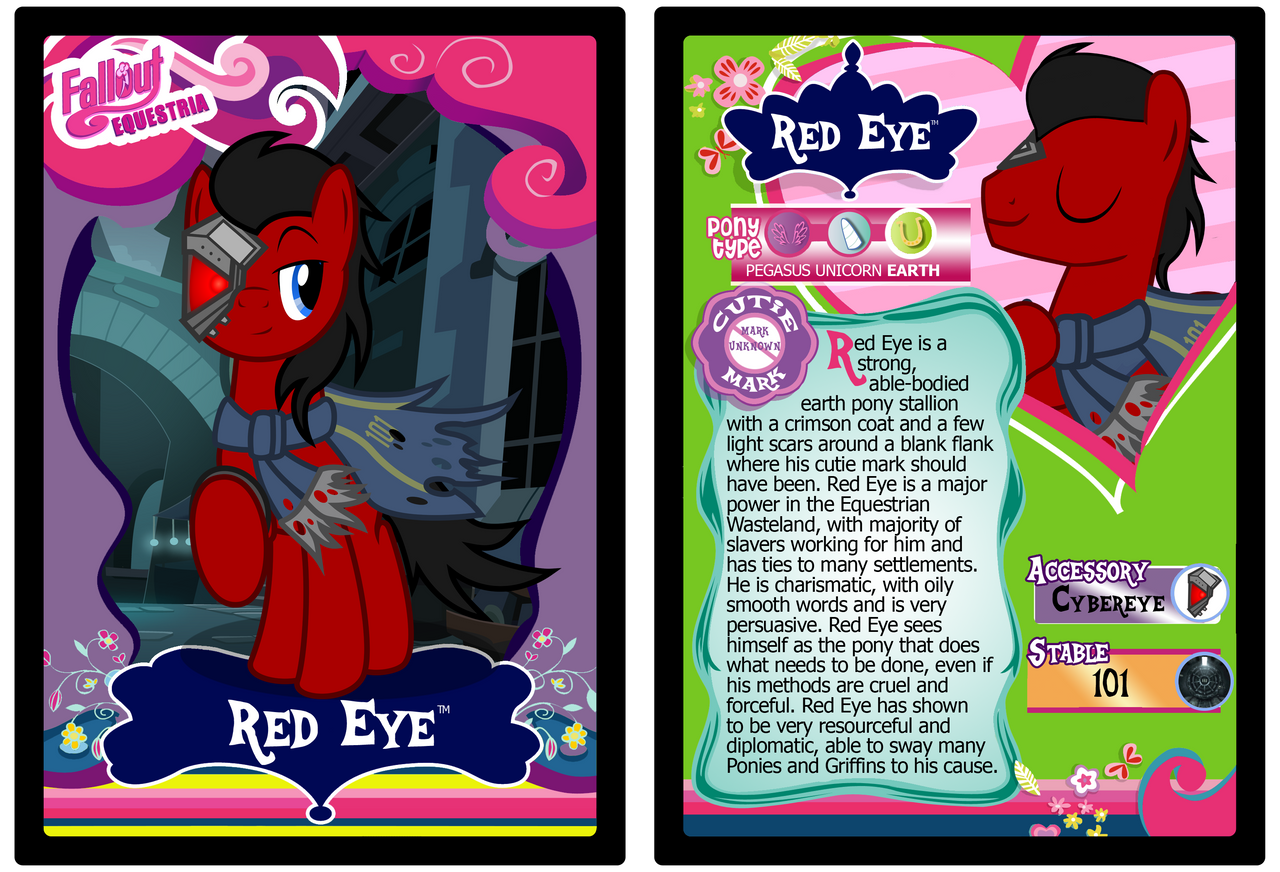 Red Eye Trading Card by RinMitzuki