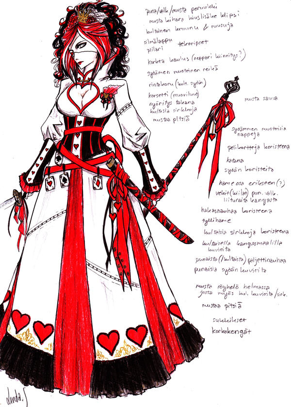Queen of Hearts costume design by MizuSasori