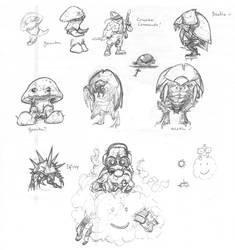 Nightmario Bros concepts rd 1 by thedarkcloak