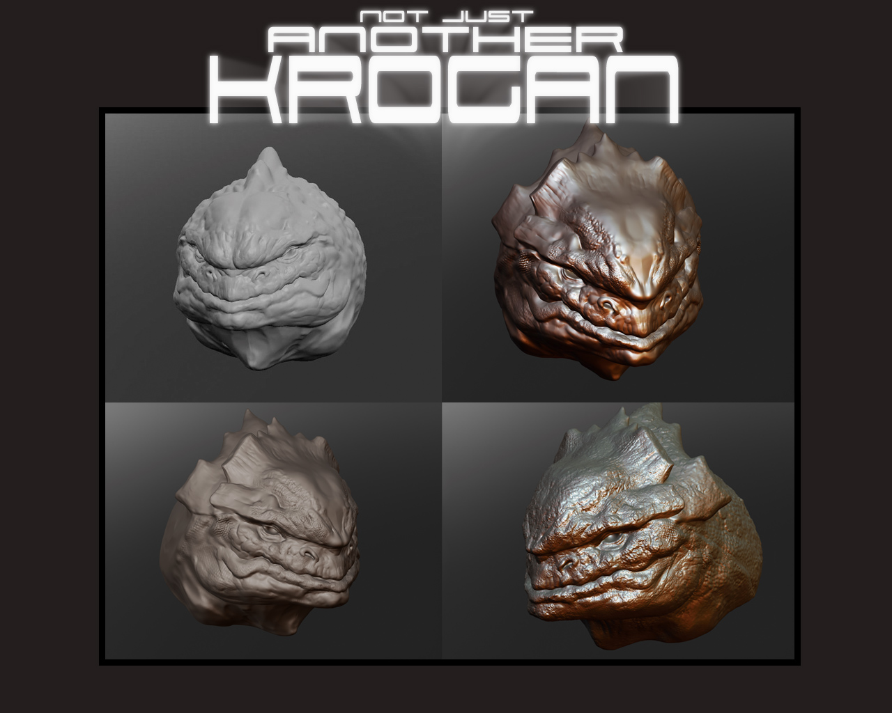Krogan - 3d Sculpt 4 Steps by thedarkcloak