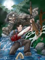Evil Dead Ash collab w Drew by thedarkcloak