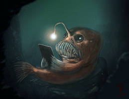 Well read Angler Fish by thedarkcloak