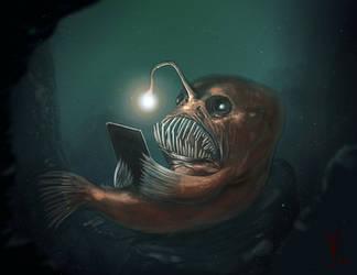Well read Angler Fish by thedarkcloak