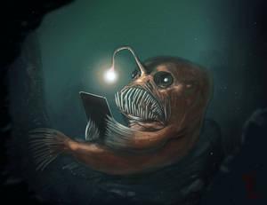 Well read Angler Fish