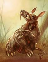 Zombie Aardvark by thedarkcloak