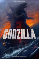 Godzilla 2014 Movie Poster TDC Painting by thedarkcloak