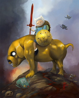 Finn and Jake - Time to deal what? by thedarkcloak