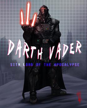 Darth Vader Cyberpunk Wasteland Remix