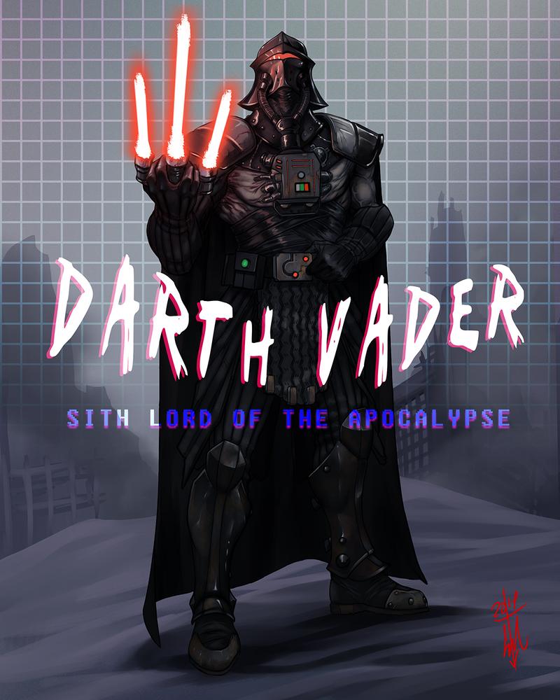 Darth Vader Cyberpunk Wasteland Remix by thedarkcloak