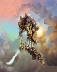 Jetpack Laser Sword Hammer Zombie by thedarkcloak
