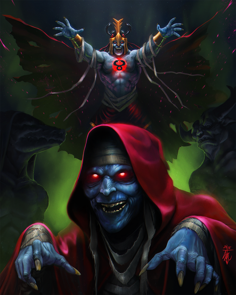 Willem DaFoe as Mumm-Ra by thedarkcloak
