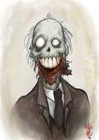 Uncle Wilbur Zombie by thedarkcloak