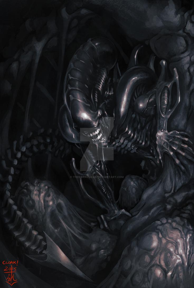 LV-426 Alien Day Painting by thedarkcloak