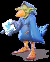 Tweet Tweet Goblin by thedarkcloak