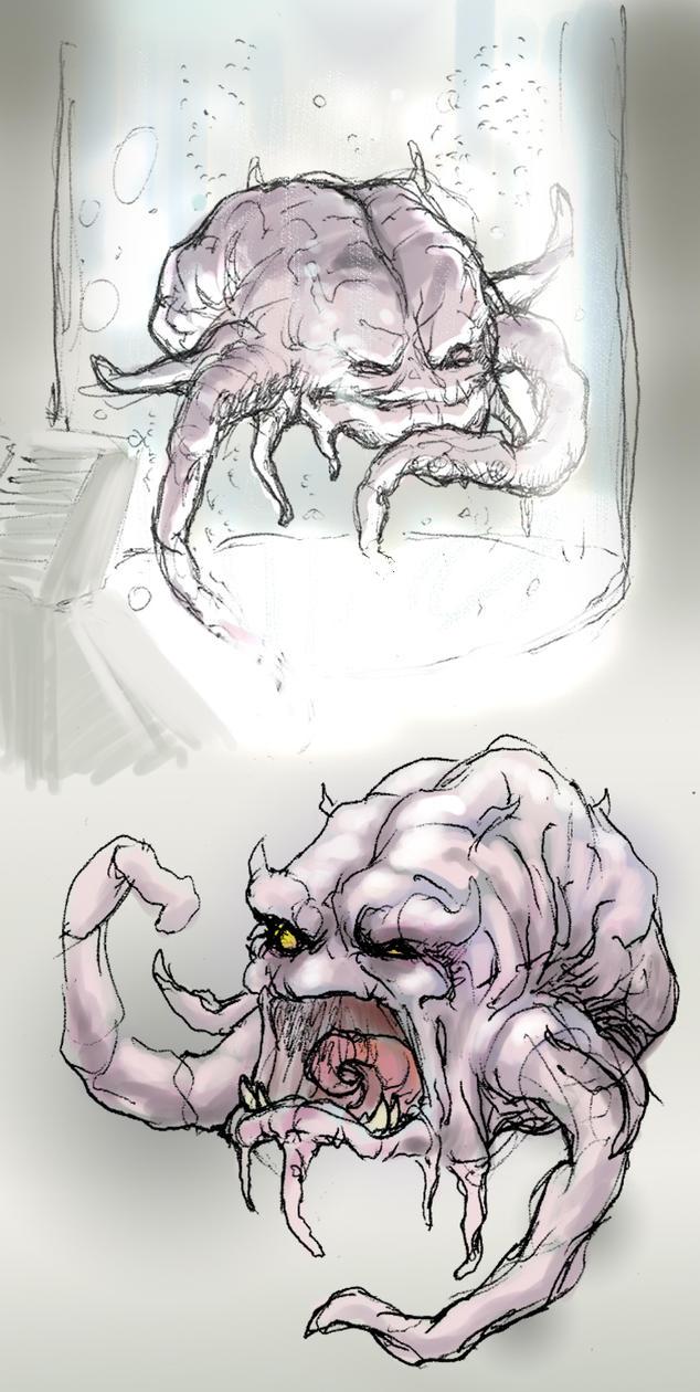 Krang the Brain - sketchee by thedarkcloak