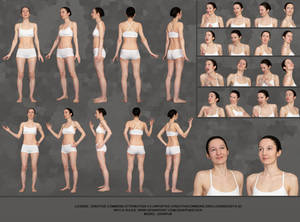 Reference sheet template (pose reference)