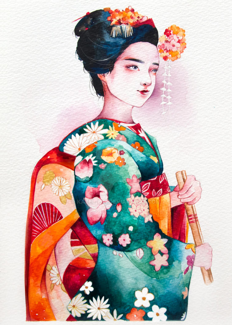Kimono girl! by BreakDiamond on DeviantArt | All things